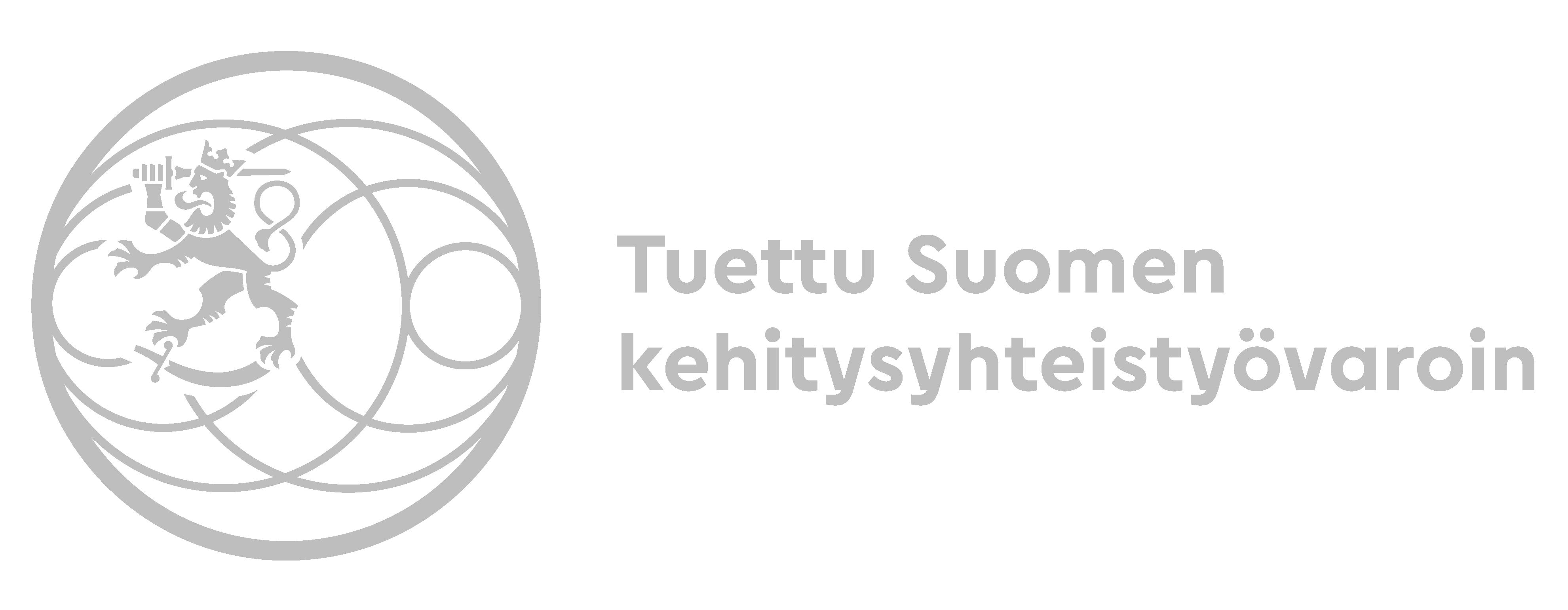 Kuvahaun tulos haulle tuettu suomen kehitysyhteistyövaroin logo